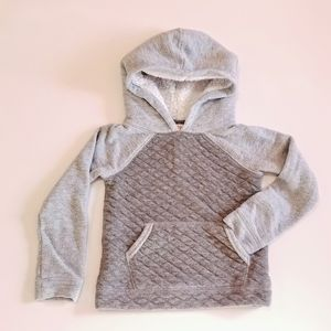 Cat & Jack Quilted Grey Sherpa Hood Pullover NWOT